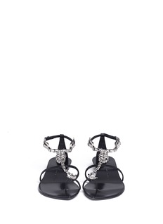 GIUSEPPE ZANOTTI DESIGN Crystal scorpion leather sandals
