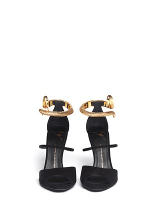 Figure View - Click To Enlarge - Giuseppe Zanotti Design - Nirvana serpent anklet suede sandals
