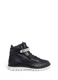 GIUSEPPE ZANOTTI DESIGN'Tokyo' metal plate leather sneakers