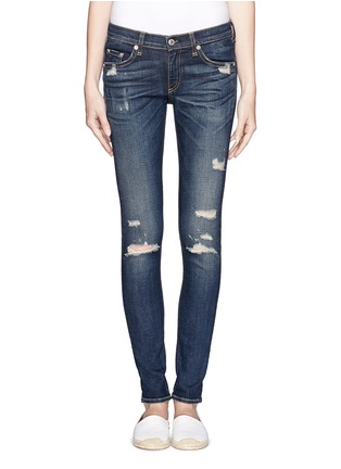 Main View - Click To Enlarge - rag & bone/JEAN - Ripped skinny jeans