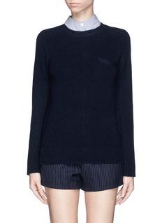 SACAI LUCKDetachable shirt collar sweater