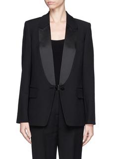 ALEXANDER WANG Satin shawl lapel tuxedo jacket