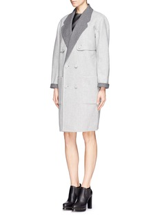 ALEXANDER WANG Reversible double breast wool felt coat