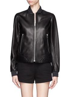 RAG & BONE'Skidpan' leather bomber jacket
