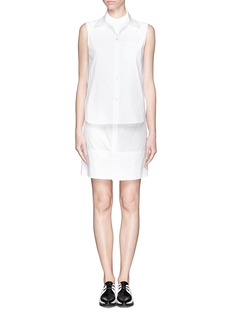 ALEXANDER WANG  Double layer sleeveless shirt dress
