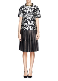 LANVIN Abstract floral jacquard top