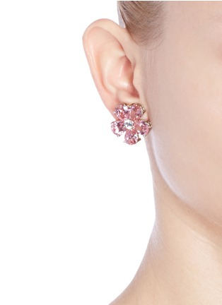 Figure View - Click To Enlarge - CZ by Kenneth Jay Lane - Cubic zirconia floral earrings
