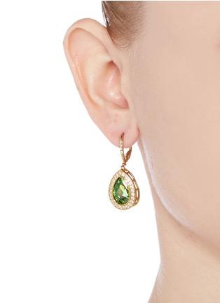 Figure View - Click To Enlarge - CZ by Kenneth Jay Lane - 'Pego' cubic zirconia pavé teardrop earrings