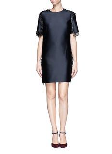 LANVINBeads fringe embellished satin dress