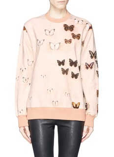 GIVENCHY Butterfly print cotton sweatshirt