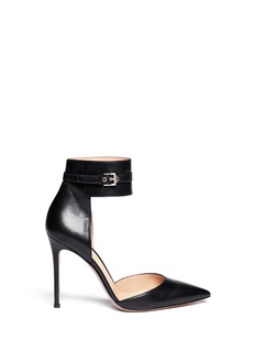 GIANVITO ROSSI Ankle wrap leather d'Orsay pumps
