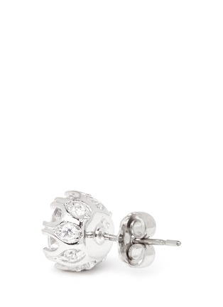 Detail View - Click To Enlarge - CZ by Kenneth Jay Lane - Round cut cubic zirconia stud earrings