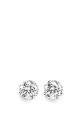 Main View - Click To Enlarge - CZ by Kenneth Jay Lane - Round cut cubic zirconia stud earrings