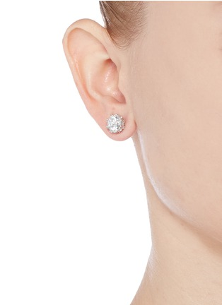 Figure View - Click To Enlarge - CZ by Kenneth Jay Lane - Round cut cubic zirconia stud earrings