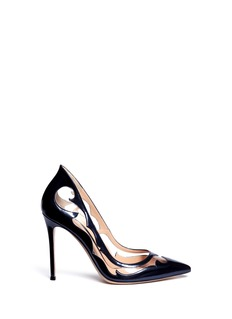 GIANVITO ROSSI Western clear PVC metallic leather pumps