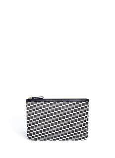 PIERRE HARDYMedium cube pattern zip pouch