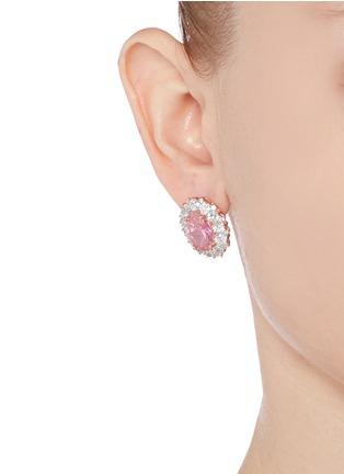 Figure View - Click To Enlarge - CZ by Kenneth Jay Lane - Oval cubic zirconia pavé earrings