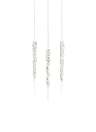 Main View - Click To Enlarge - Kurt S Adler - Pearl glass icicles Christmas ornament set