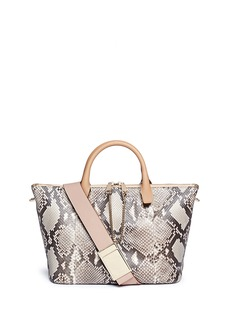CHLOÉ 'Baylee' medium python leather tote