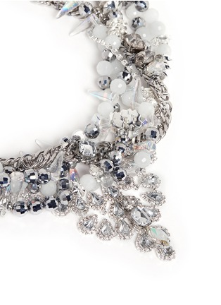 Detail View - Click To Enlarge - AMANDA MOUNSER - Teardrop crystal pendant multi chain necklace