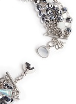 Teardrop crystal pendant multi chain necklace