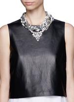 ASSAD MOUNSERTeardrop crystal pendant multi chain necklace
