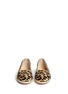 CHARLOTTE OLYMPIA'Capri Cats' leopard print pony hair flats