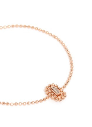 Detail View - Click To Enlarge - Xiao Wang - 'Elements' diamond beaded chain 14k rose gold bracelet