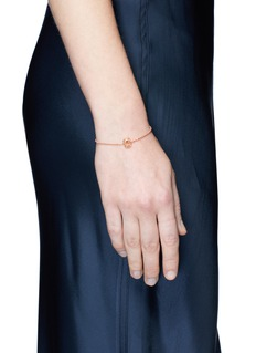 Xiao Wang 'Elements' diamond beaded chain 14k rose gold bracelet