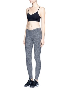 Live The Process 'V' crossover waistband performance leggings
