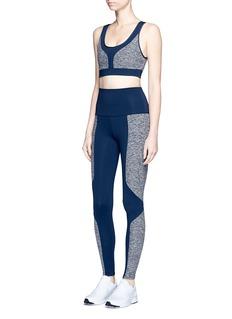 Live The Process'Geometric' foldable waist performance leggings