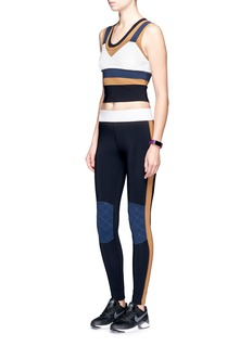 No Ka'Oi 'Kina' colourblock performance leggings