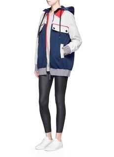 No Ka'Oi'Wai' colourblock cotton blend hooded jacket