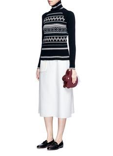 Hillier BartleyFair Isle intarsia turtleneck sweater