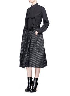 Marc JacobsBird cage embellished virgin wool blend skirt