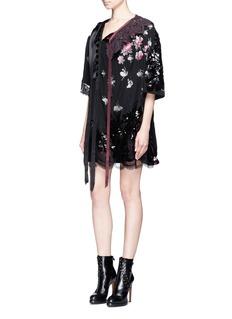 Marc JacobsCrochet collar sequin lace patchwork jacquard dress