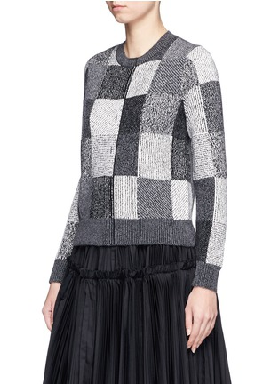 Front View - Click To Enlarge - Marc Jacobs - Patchwork-effect two-way cashmere sweater