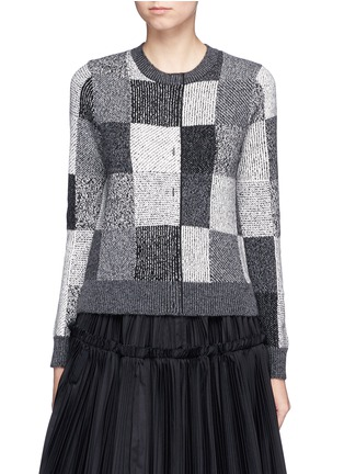 Main View - Click To Enlarge - Marc Jacobs - Patchwork-effect two-way cashmere sweater