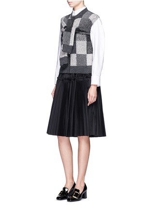 Figure View - Click To Enlarge - Marc Jacobs - Patchwork-effect two-way cashmere sweater