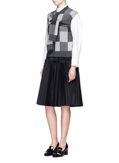 Marc Jacobs Patchwork-effect two-way cashmere sweater