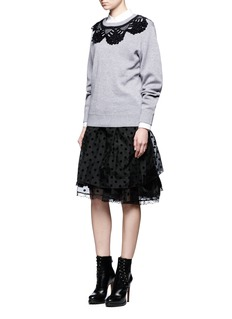 Marc Jacobs Crochet neck cotton blend sweatshirt