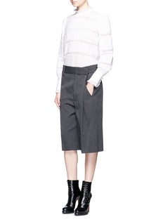 Marc JacobsPinstripe wool blend cropped wide leg pants