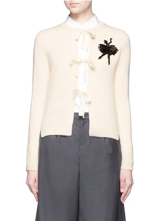 Main View - Click To Enlarge - Marc Jacobs - Embellished ballerina appliqué cashmere cardigan