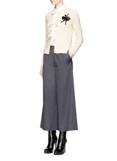 Marc JacobsEmbellished ballerina appliqué cashmere cardigan