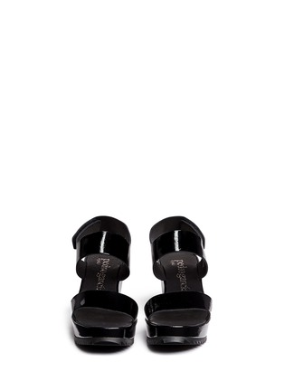Pedro García - 'Fiona' patent leather platform wedge sandals