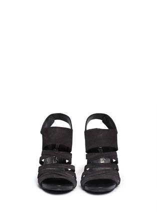 Front View - Click To Enlarge - Pedro García - 'Yuna' strappy suede sandals