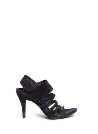 Main View - Click To Enlarge - Pedro García - 'Yuna' strappy suede sandals