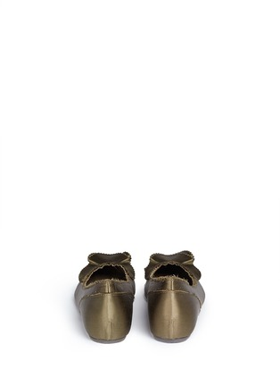 Back View - Click To Enlarge - Pedro García - 'Albany' ruffled satin skimmer flats