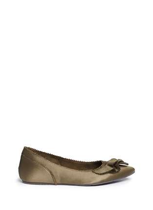 Main View - Click To Enlarge - Pedro García - 'Albany' ruffled satin skimmer flats