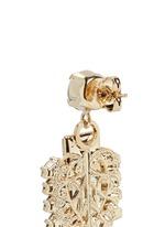 'Double Pixel' Swarovski crystal drop earrings